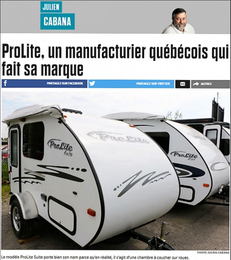 ProLite, un manufacturier québécois qui fait sa marque- Journal de Québec