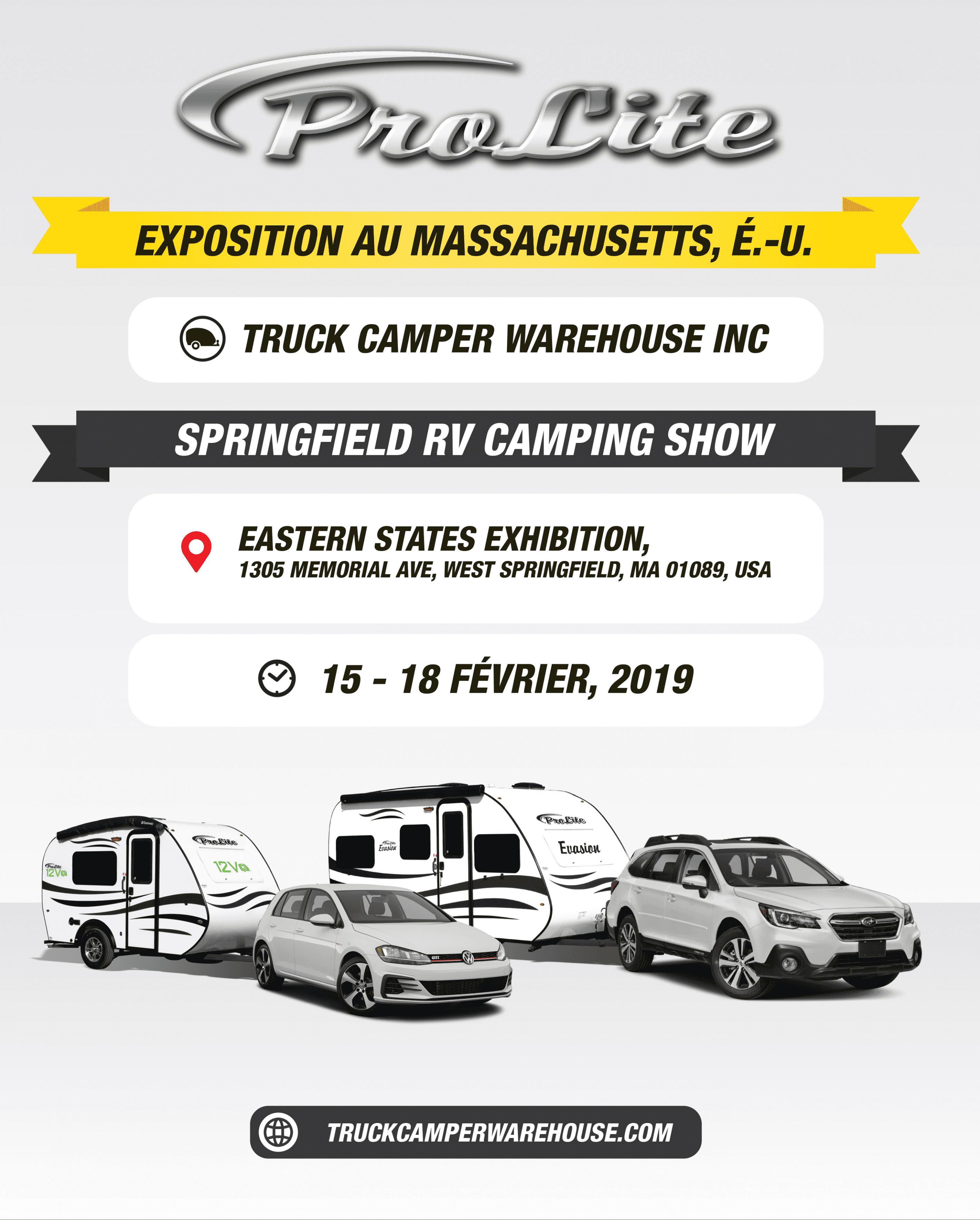 EXPOSITION-ROULOTTES PROLITE-ÉTATS-UNIS-MASSACHUSETTS- Truck camper warehouse ( 15-18 février , 2019)