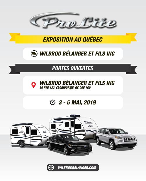 EXPOSITION ROULOTTES PROLITE-QUÉBEC (Gaspésie)-Wilbrod Bélanger et fils Inc (1 mai au 3 mai 2020)
