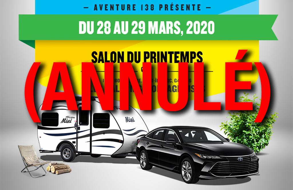 EXPOSITION ROULOTTES PROLITE-QUÉBEC-Sept-îles - Aventure 138 ( 28-29 mars 2020)