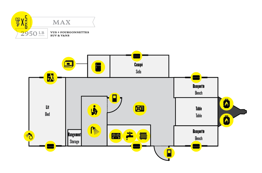 Roulotte Prolite - Modèle MAX