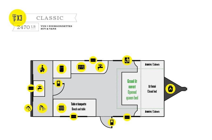 Roulotte Prolite - Modèle CLASSIC